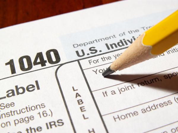 Pencil on a Tax Form