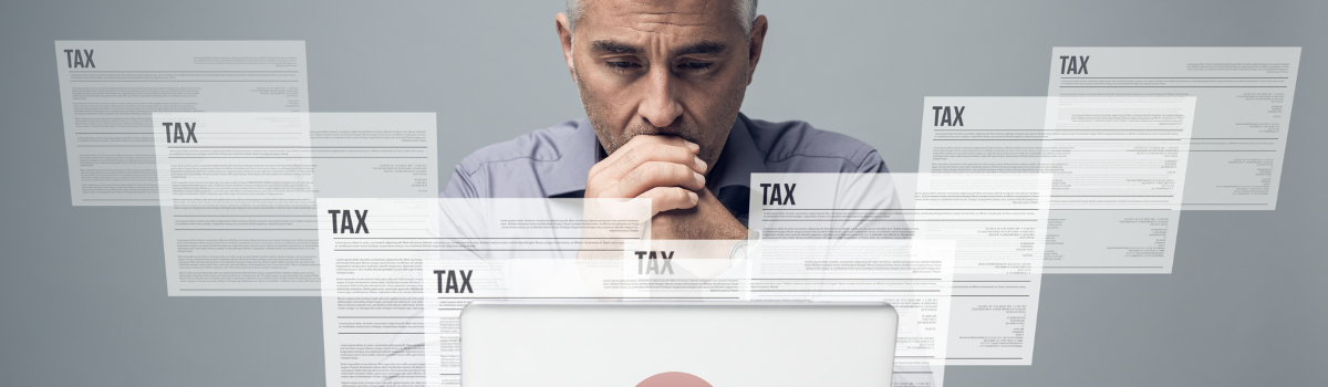 Man Confused by Taxes